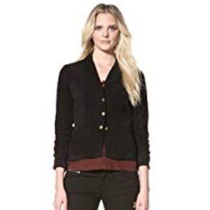XCVI Black Ruched Jacket Blazer Size Medium